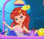 Baby Ariel Shower Fun