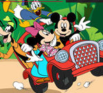Mickey Mouse Car Hidden Tires