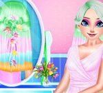 Elsa Colorful Braid Hairstyle