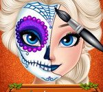 Elsa Halloween Face Makeup