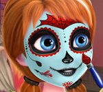 Frozen Sisters Halloween Face Art